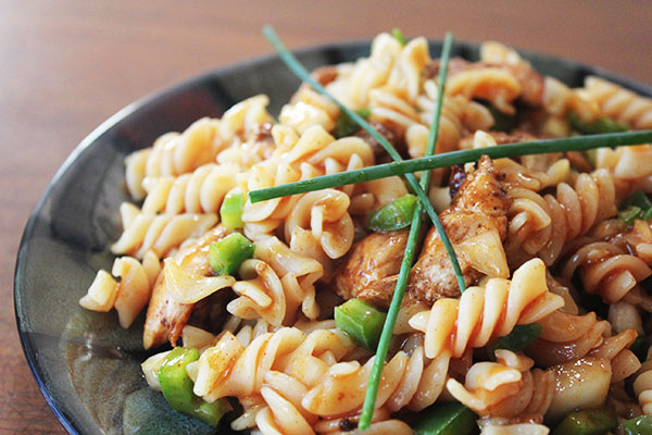spicy chicken pasta salad