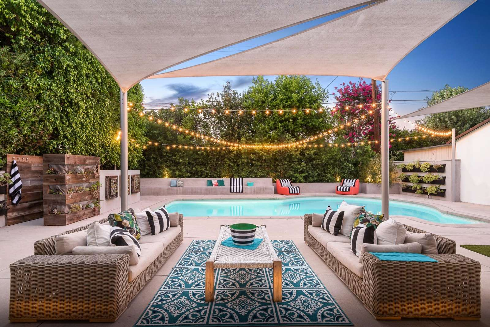 Lena Headey's LA home - backyard pool