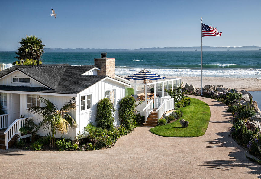 ashton kutcher and mila kunis beachside home