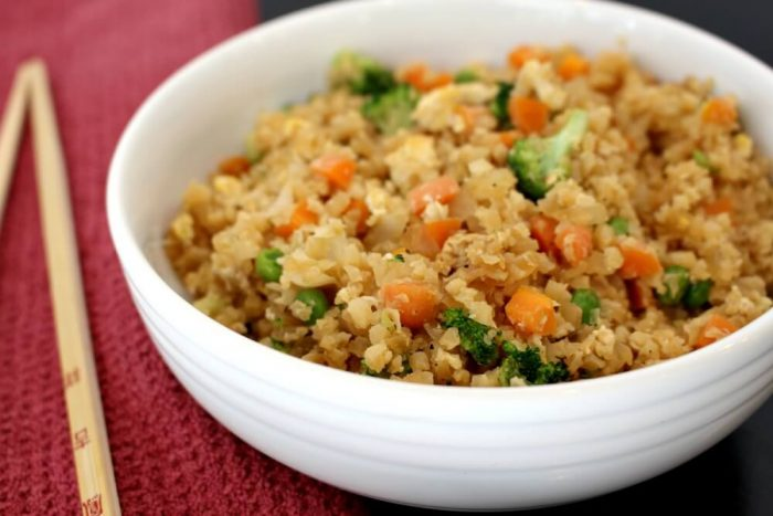 Cauliflower rice/ Quick and Easy Low-Calorie Recipes For a Healthier You