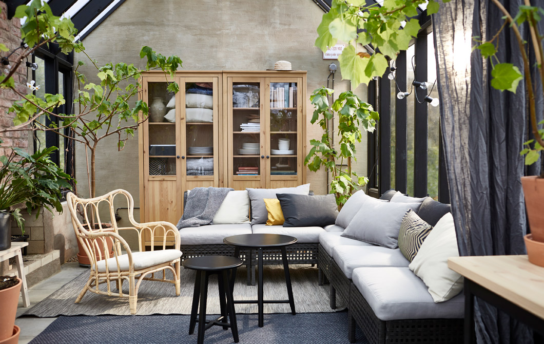 ikea outdoor living room