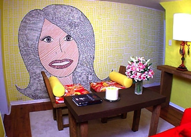 terrible home makeover - wall mosaic by hildi santo tomas