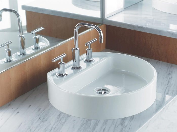 round bathroom basin
