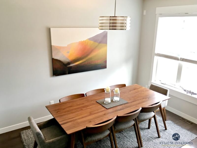 passive gray dining room