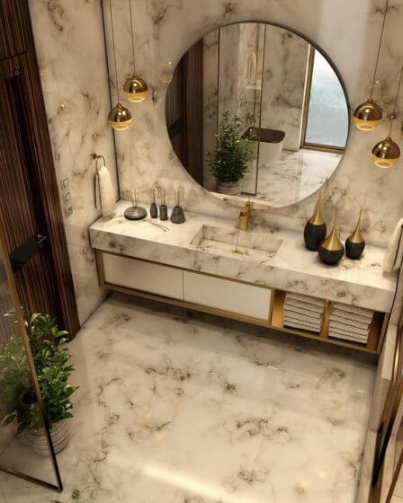 Use mirrors to make bathroom look spacious