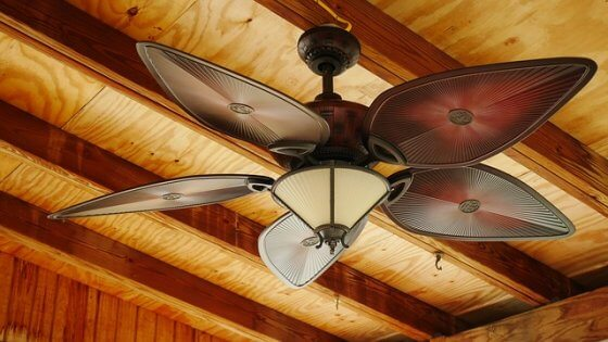 Not utilizing your ceiling fans
