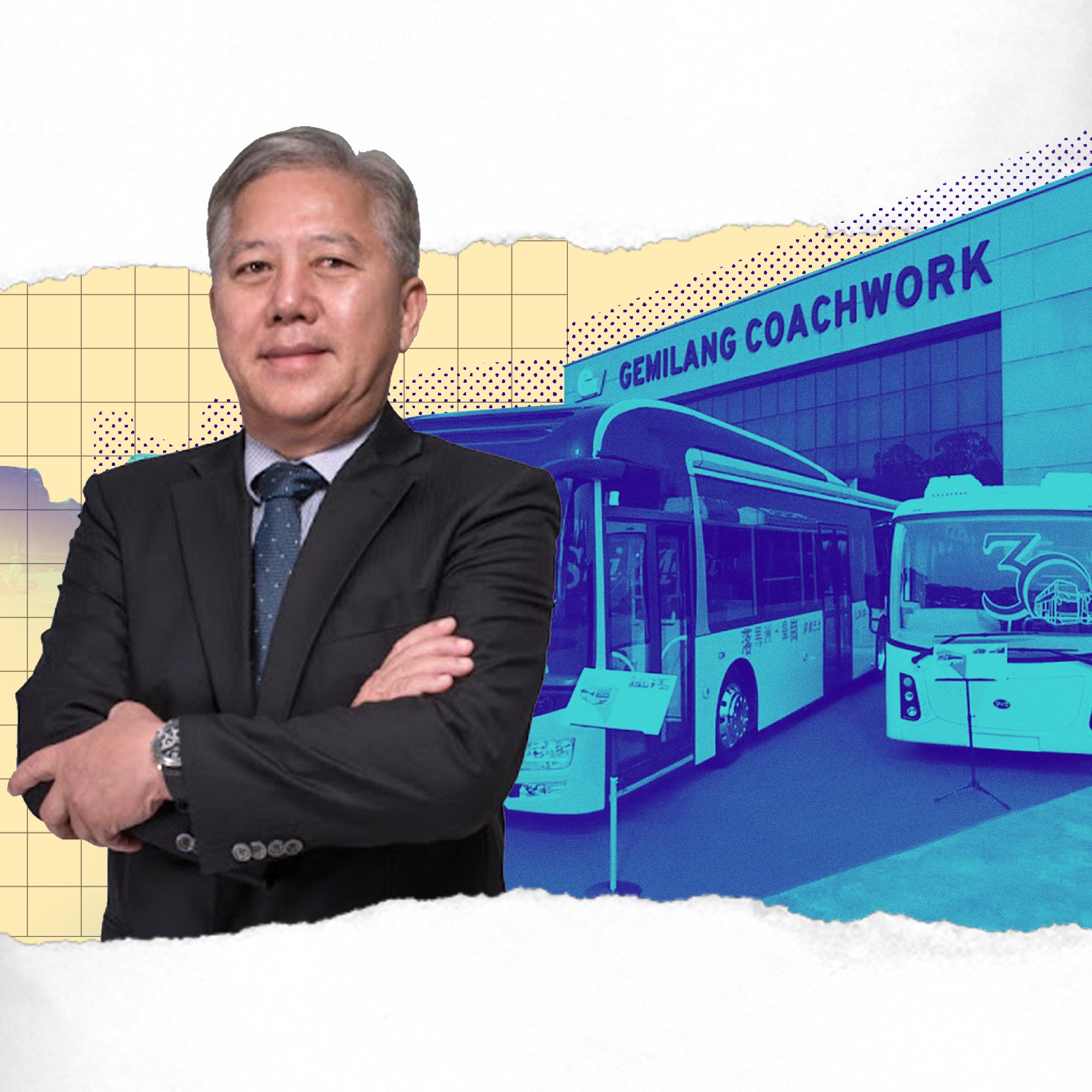 彭顺国际的电动巴士开出了一条绿色车道