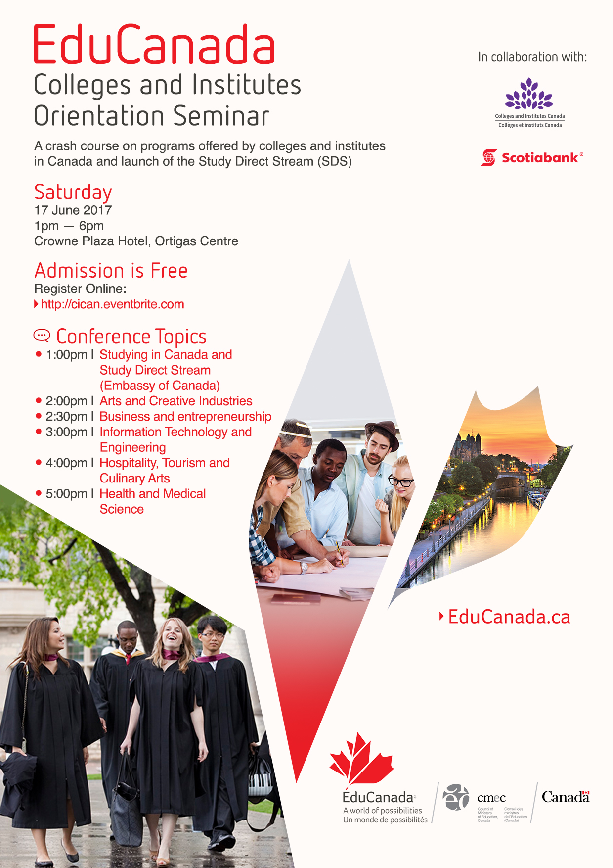 work and study English programs in Canada