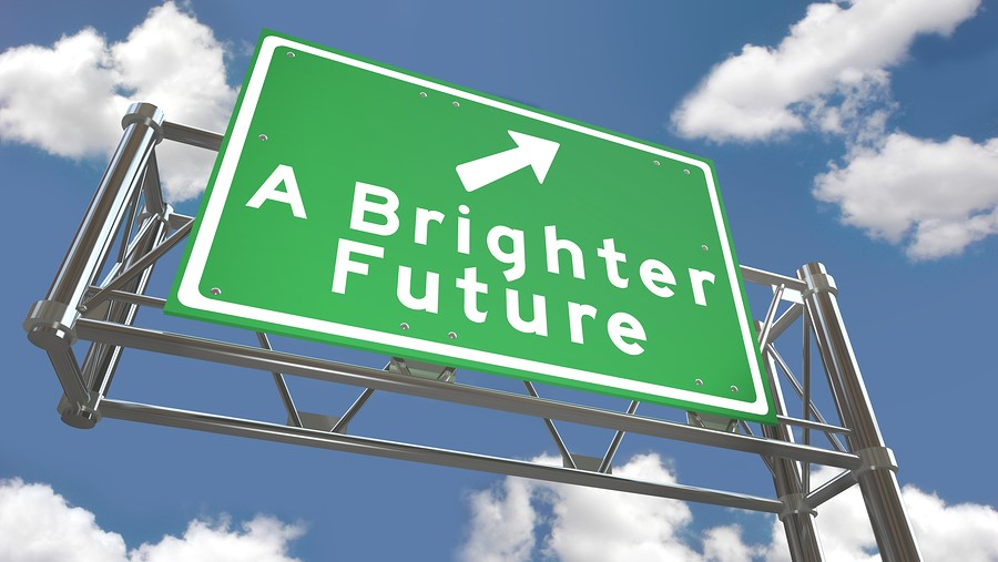 study abroad sign that says a brighter future