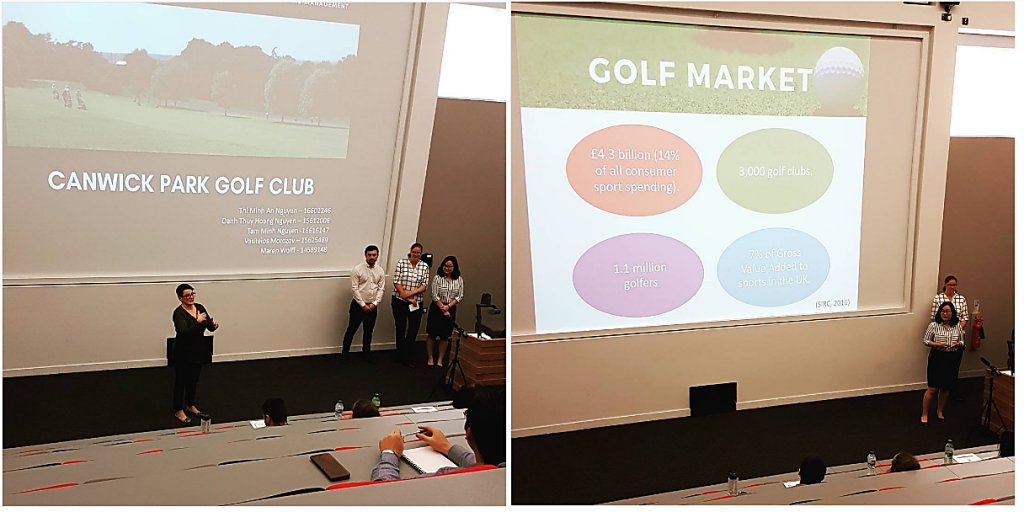 University of Lincoln students in UK present for Canwick Park Golf Club
