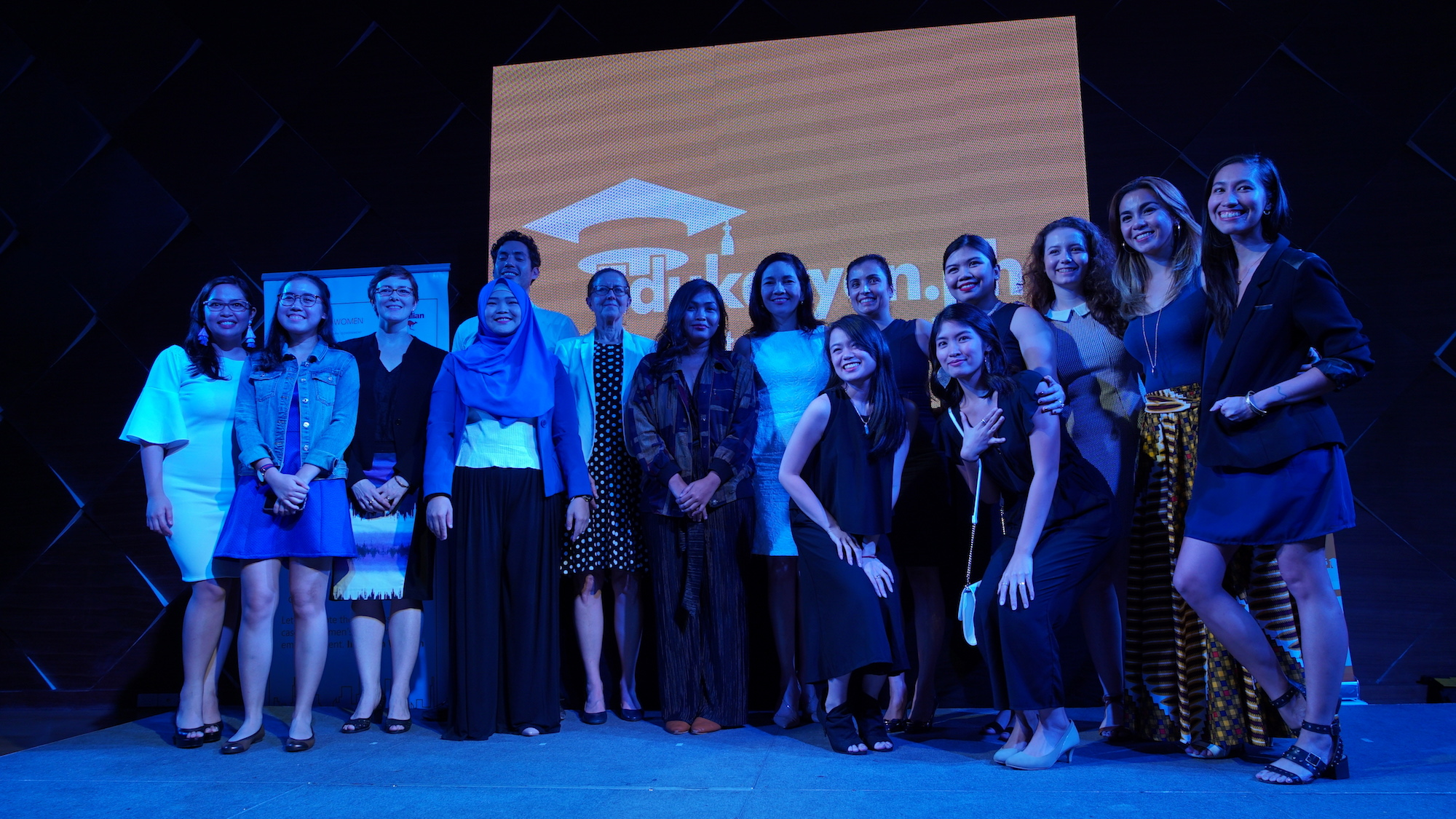 Edukasyon.ph and Investing in Women with Senator Risa Hontiveros and youth ambassadors for Investing in the Future of Young Pinays