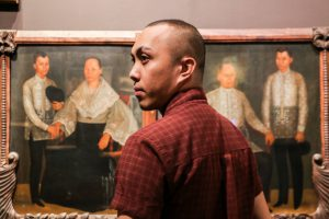 John Balaguer at work in a museum
