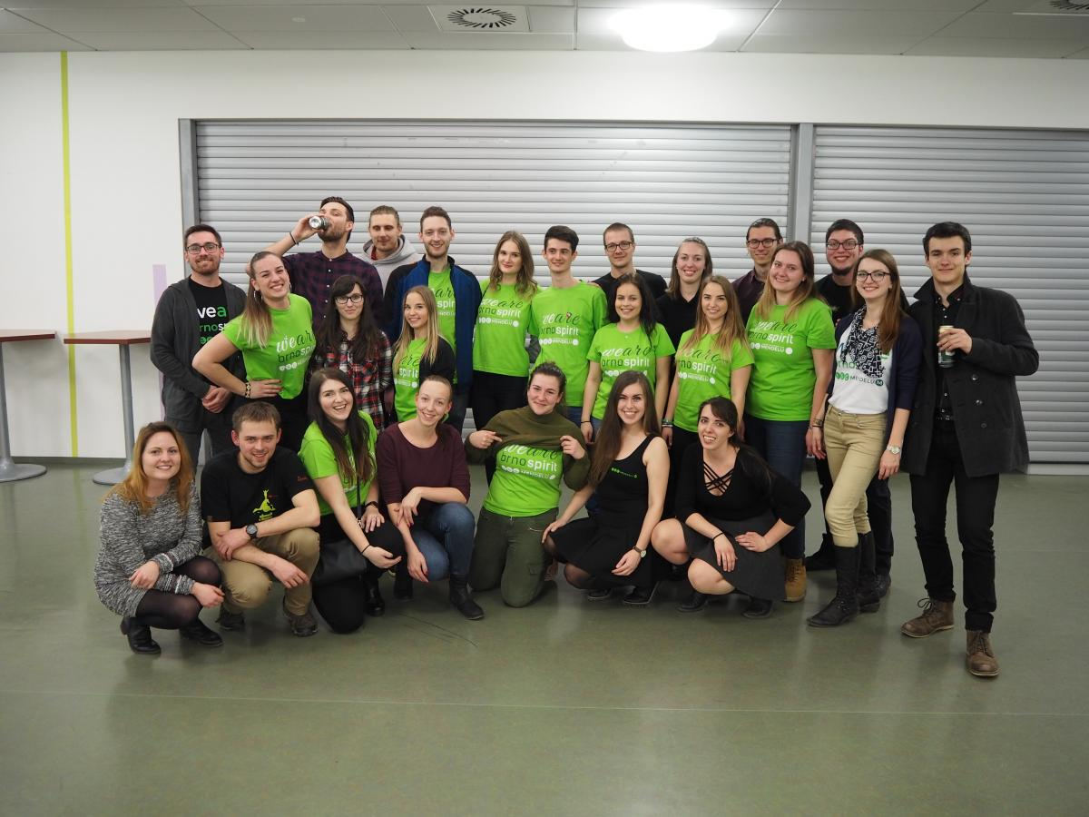 Members of Erasmus Student Network in Mendel University in Brno