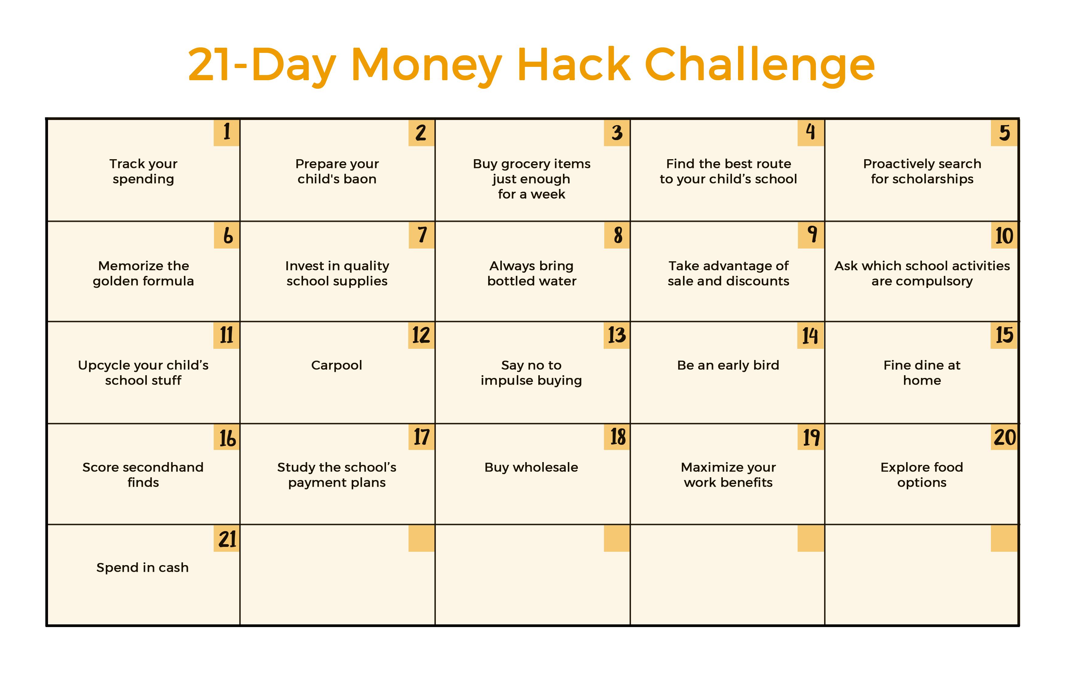 21-Day Money Hack Challenge