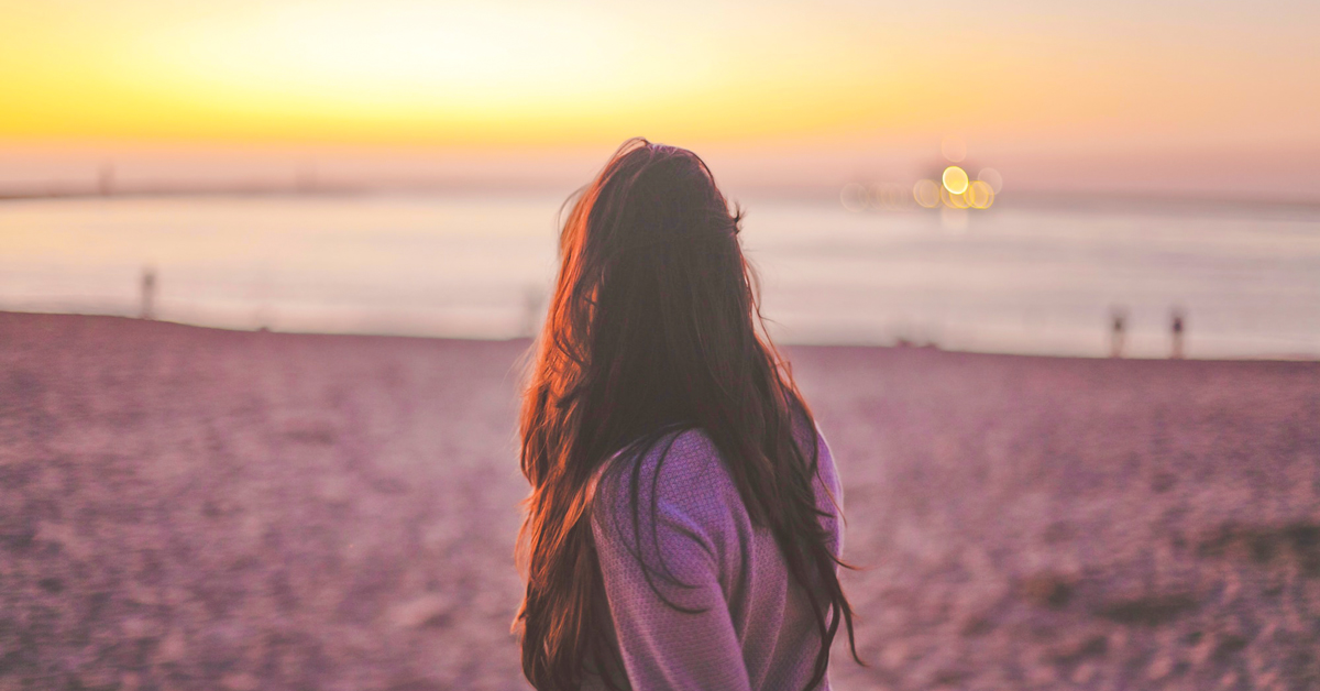 girl looking at horizon