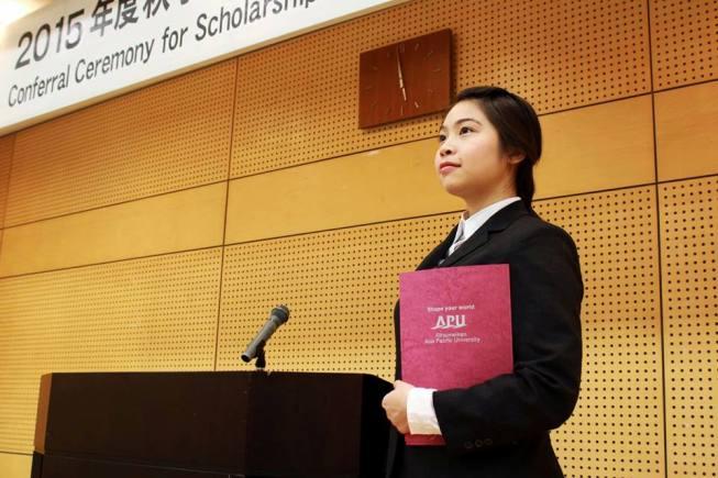 APU Ritsumeikan student, scholarship hunter from Vietnam, Duong Thi Bao Anh