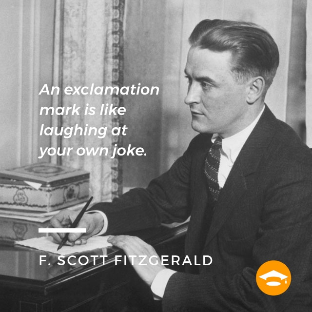 "Famous writers on writing: F. Scott Fitzgerald, author of ""The Great Gatsby"""