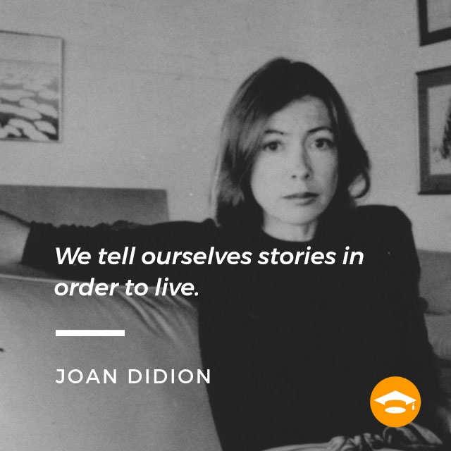 "Famous writers on writing: Joan Didion, author of ""The Year of Magical Thinking,"" ""The White Album,"" and ""Blue Nights"""