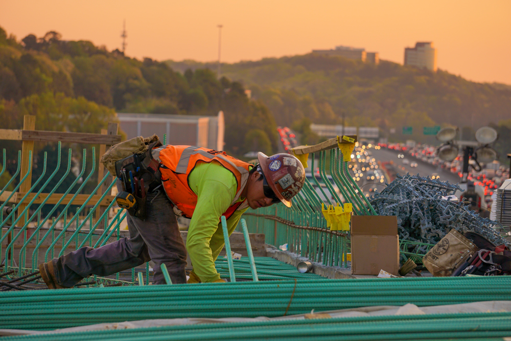 man working in a construction site