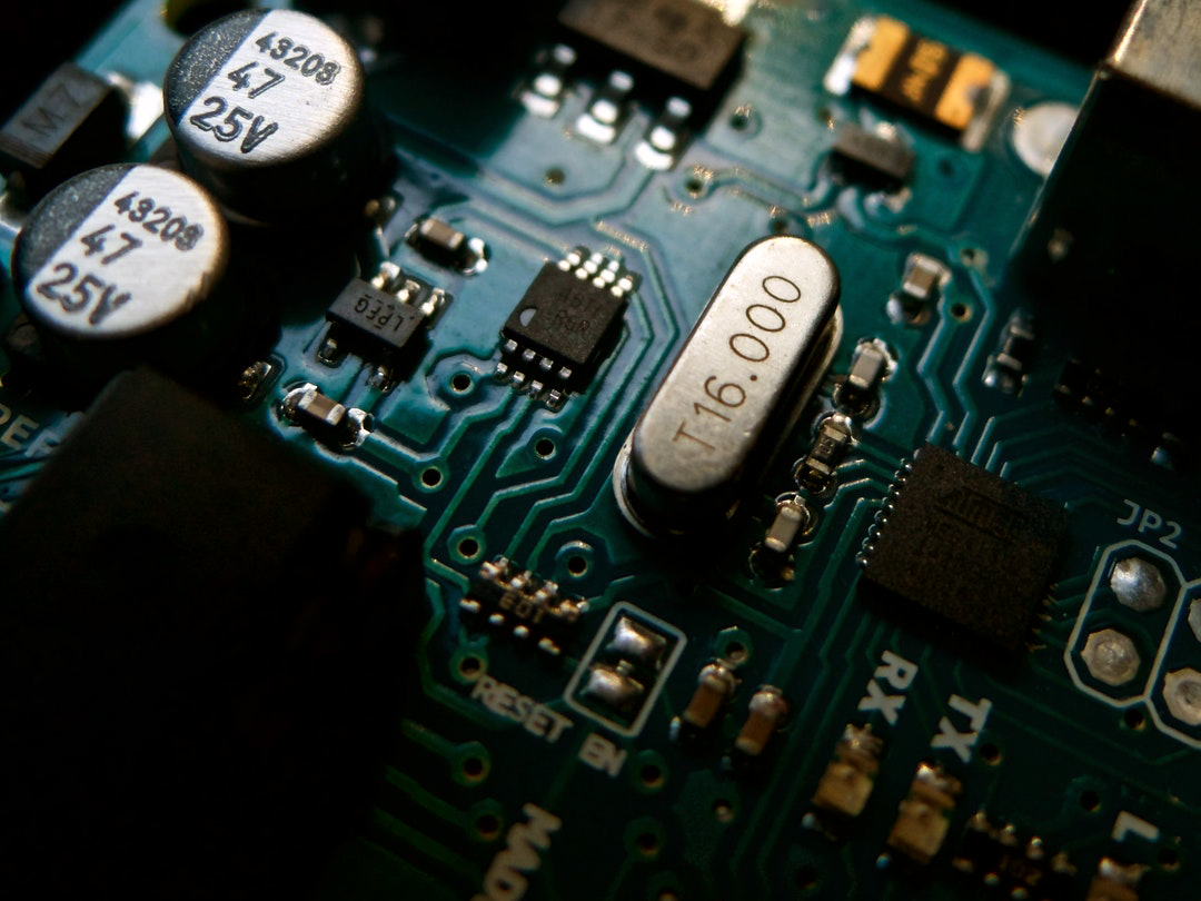 image of an electric circuit board