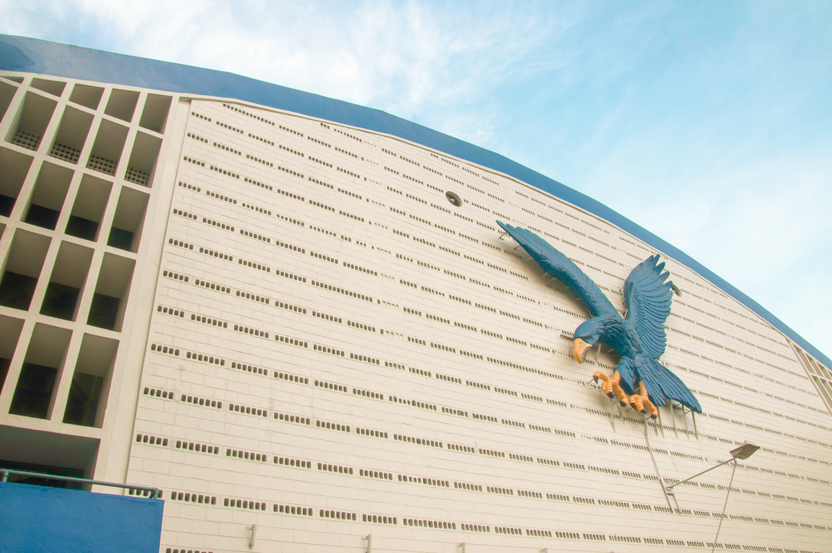 Façade of the Blue Eagle Gym of the Ateneo de Manila University