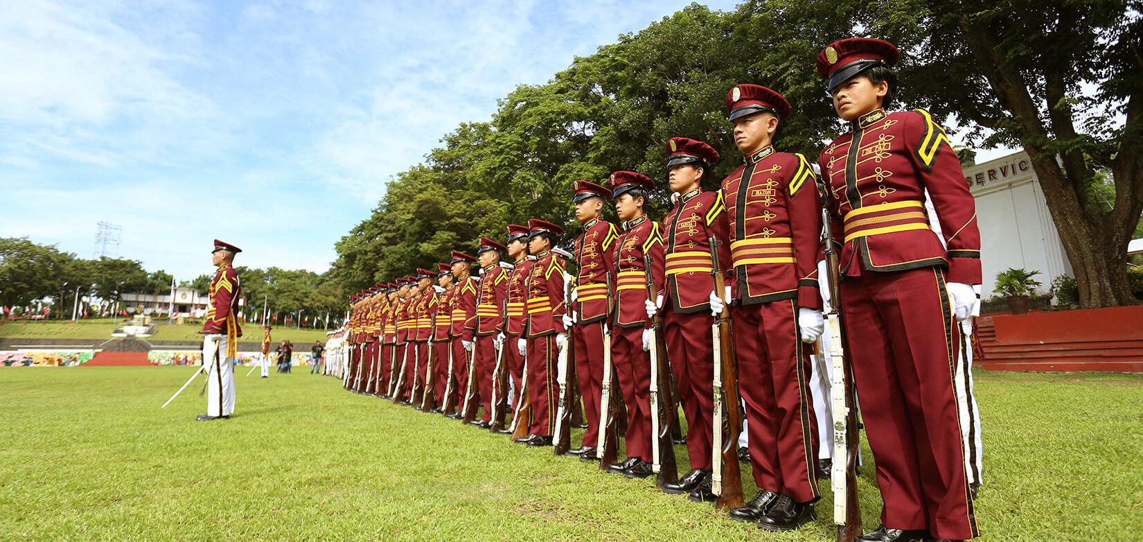 PNPA Cadets forming a line