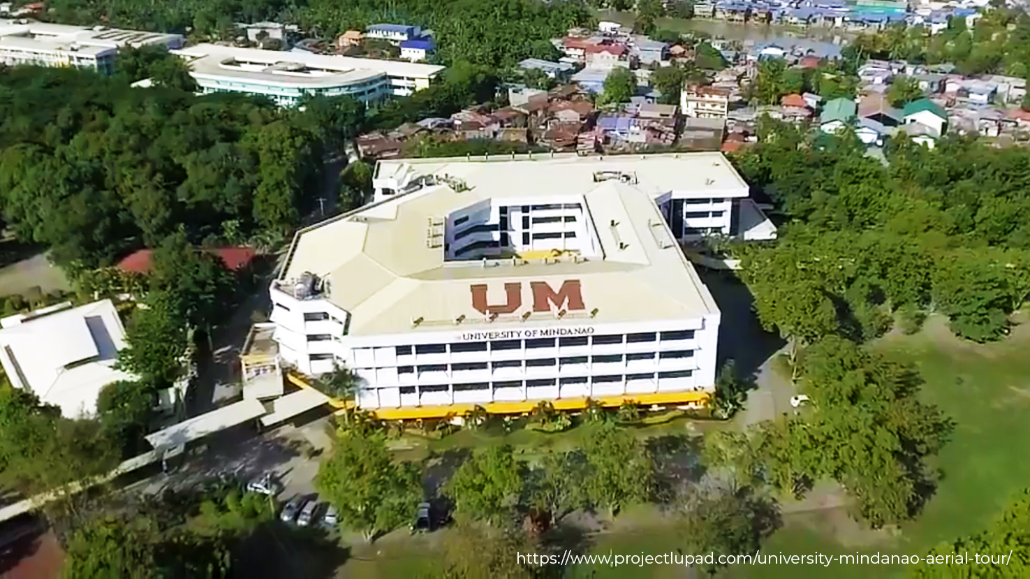 aerial shot of the university of mindanao campus