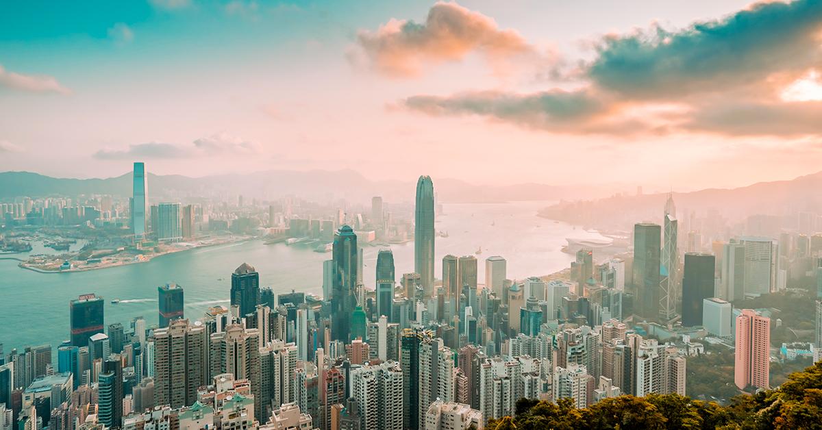 Hong Kong daytime skyline