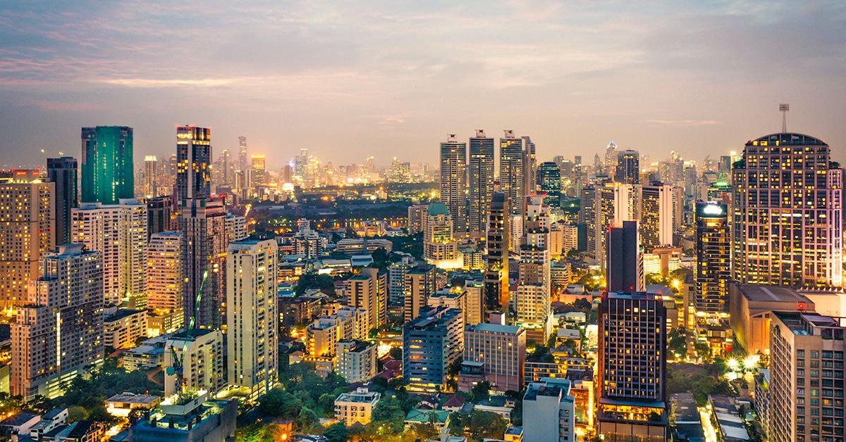 Thailand daytime skyline