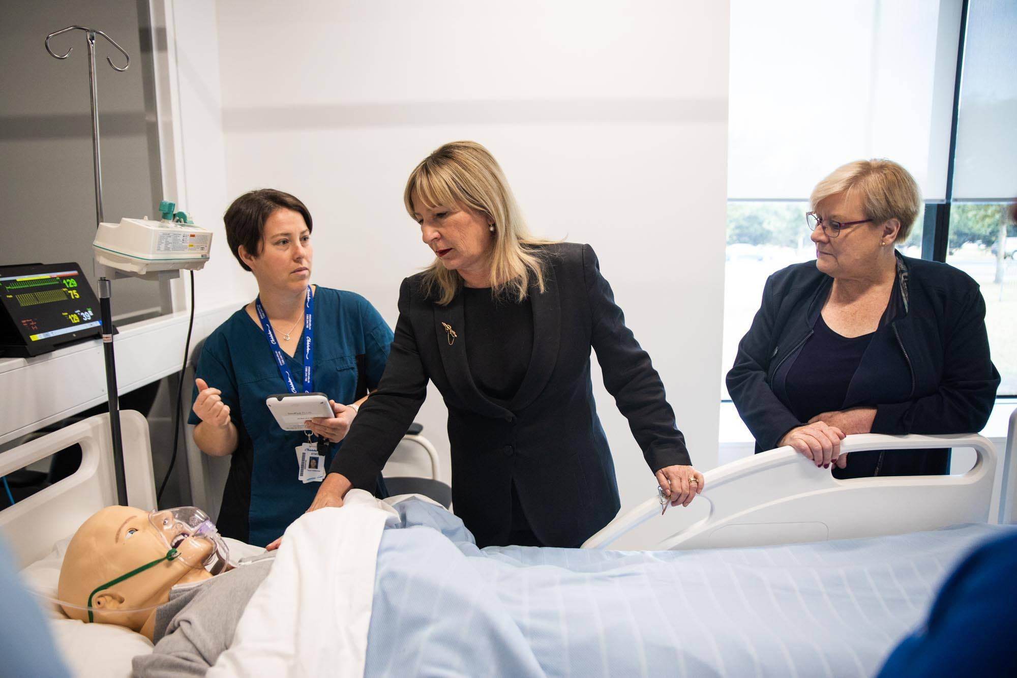 nursing and allied health professionals training with laerdal mannequin