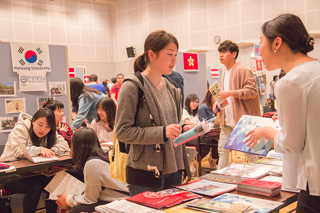 students going on exchange through ritsumeikan asia pacific univeristy