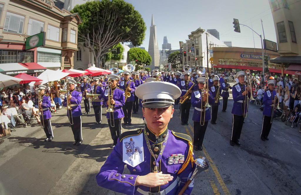 marching band at a boarding school in california