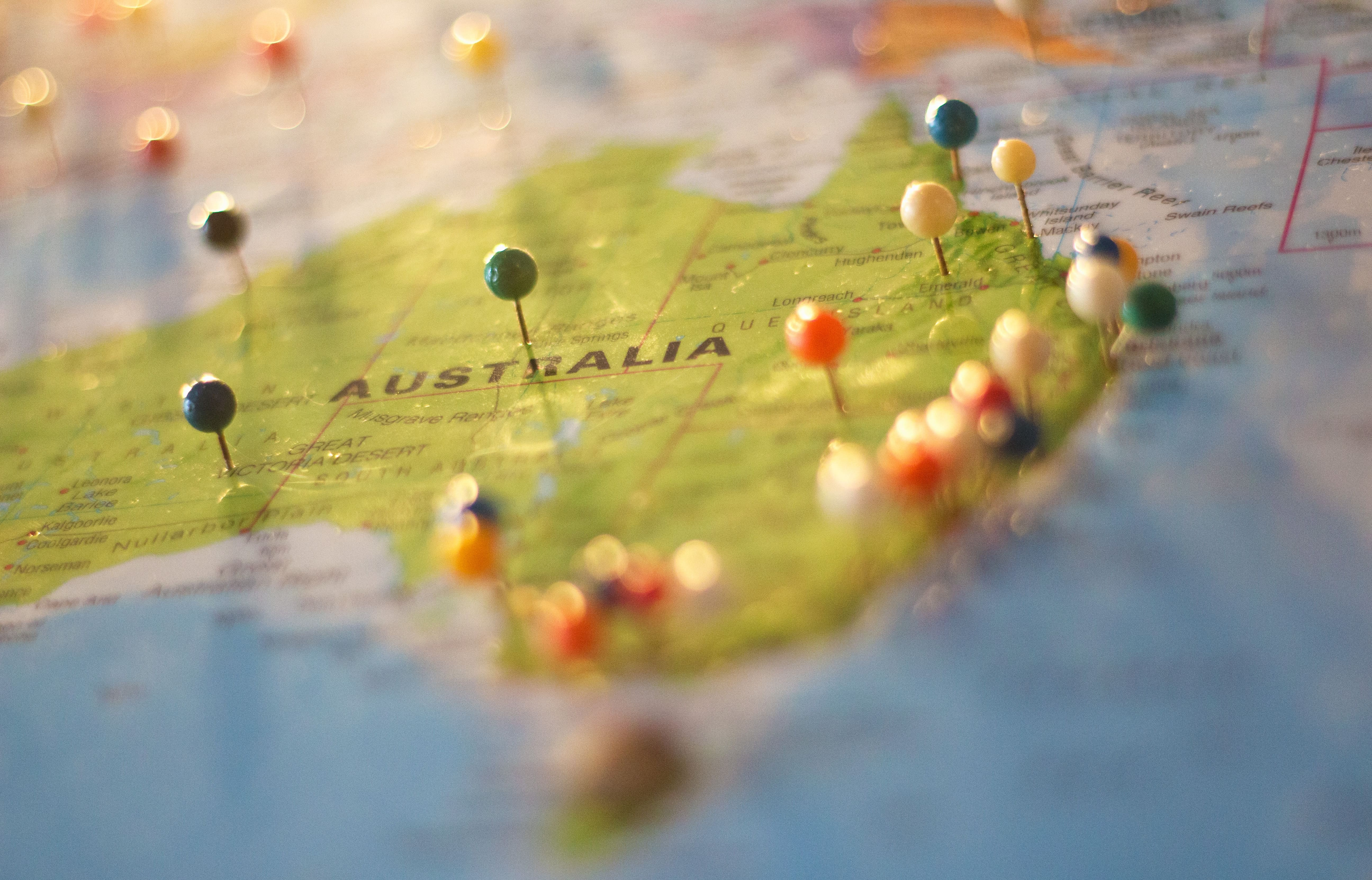 map of australia for first time international students