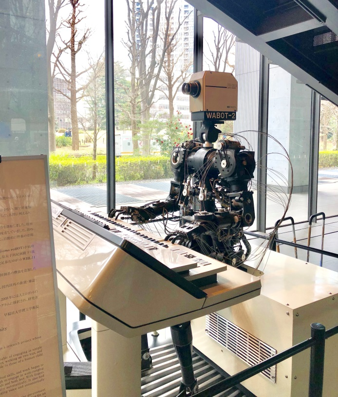 life in waseda university robot playing the piano