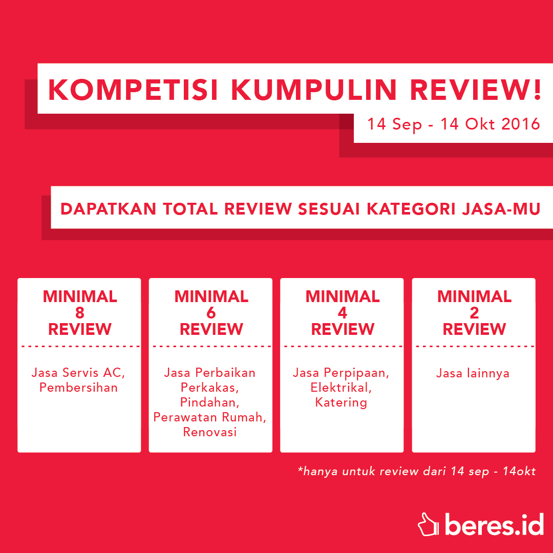 Kompetisi Kumpulin Review beres.id september