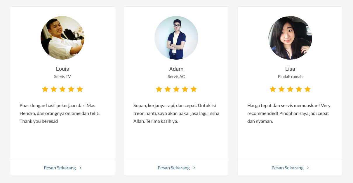 review pelanggan Beres.id