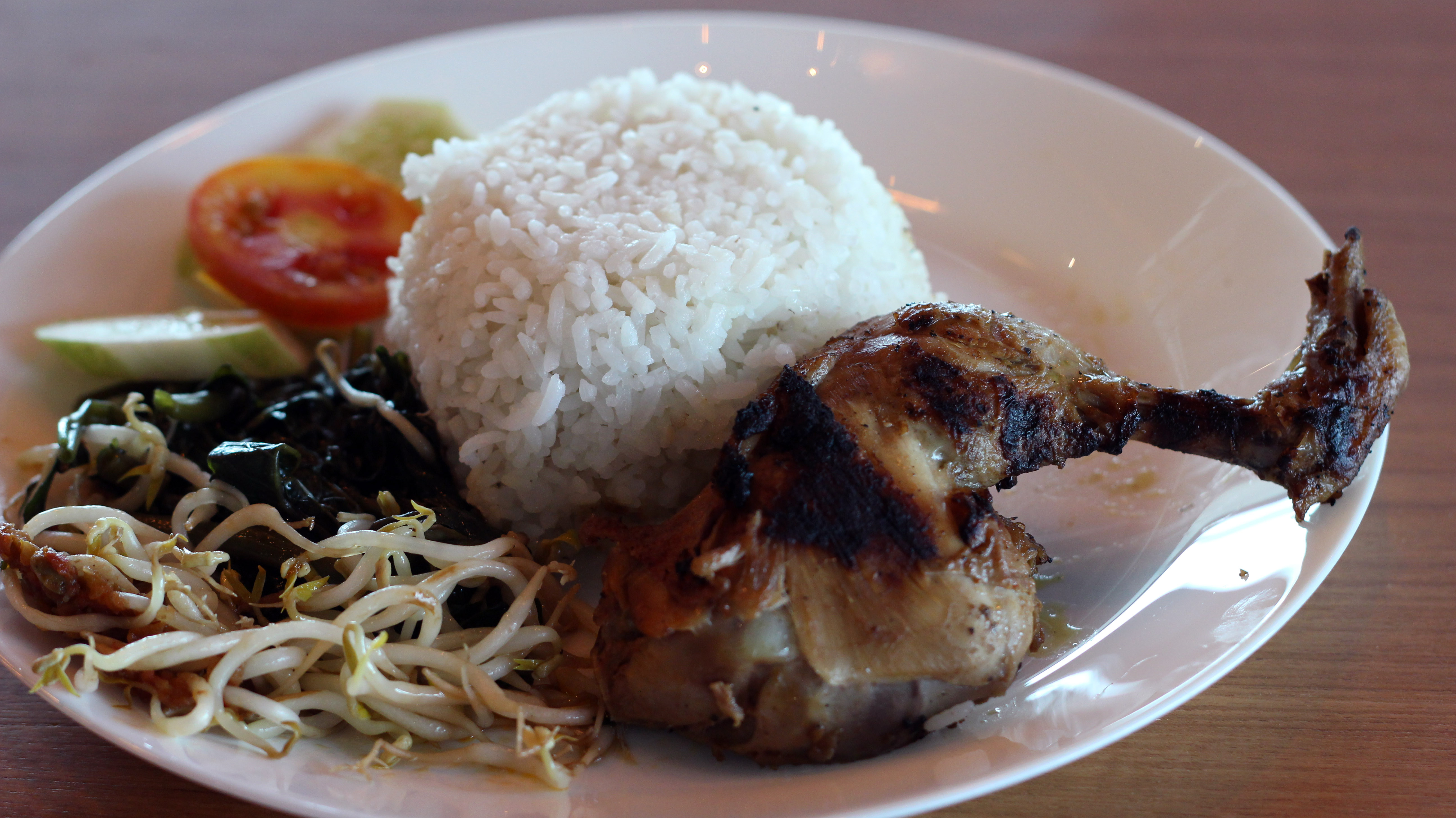 nasi ayam gepuk taliwang