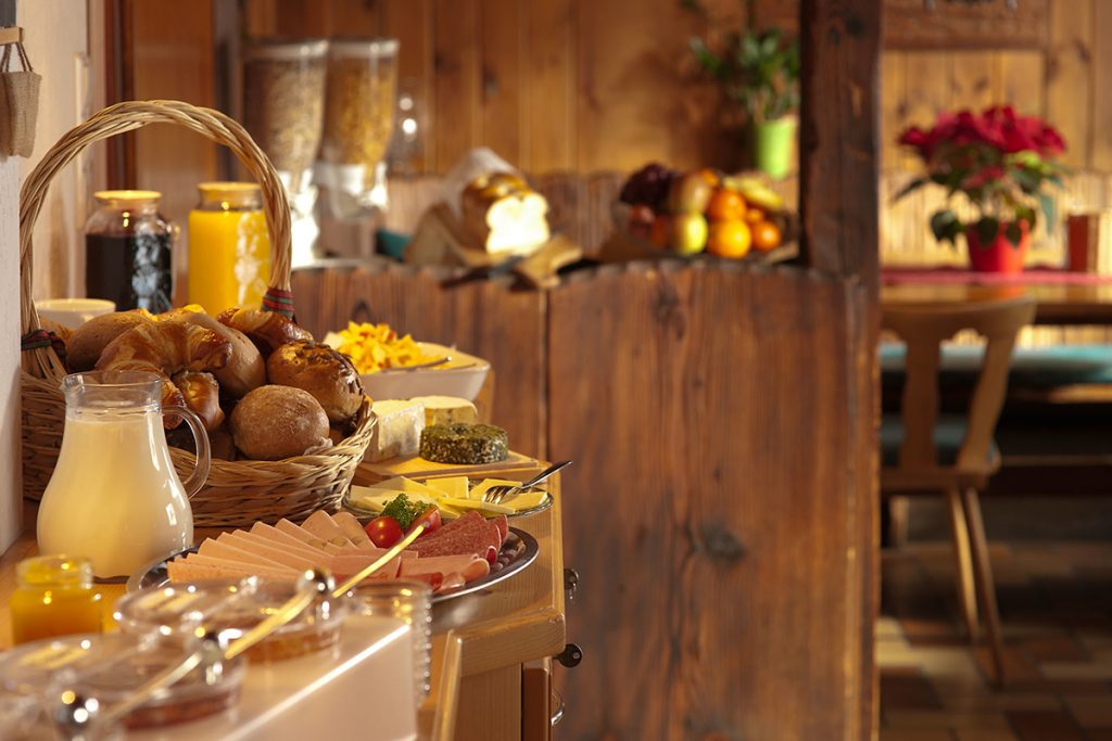 catering or buffet spread at home