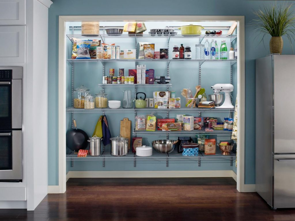 Adjustable-wire-shelving-is-an-inexpensive-product-for-customizing-your-pantry-space.
