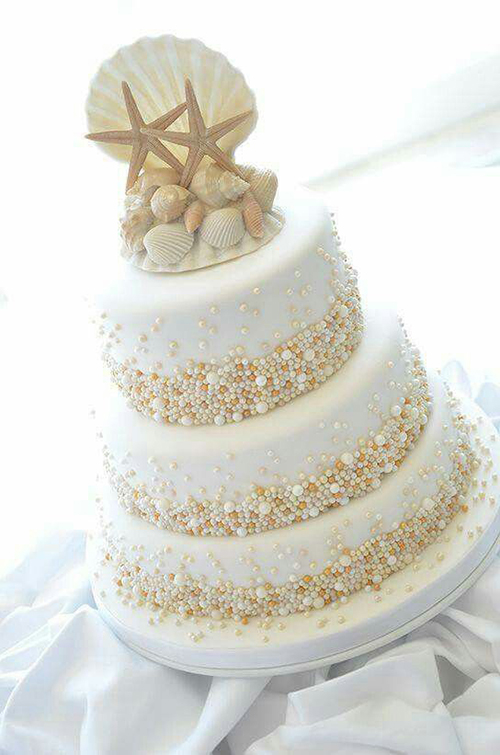 beach wedding cake - mariages.net