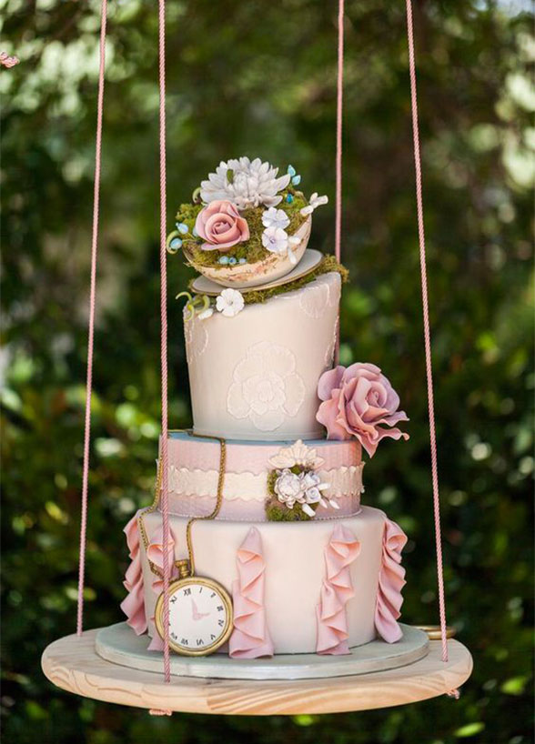 whimsical wedding cake - sweet traders