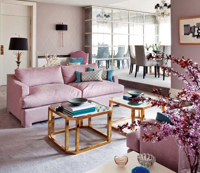 dusty rose color sofa