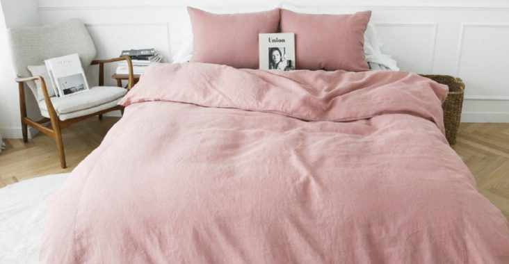 dusty rose pillows and sheets