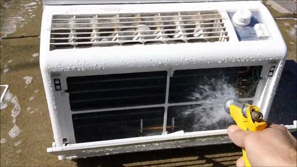 window aircon unit cleaning