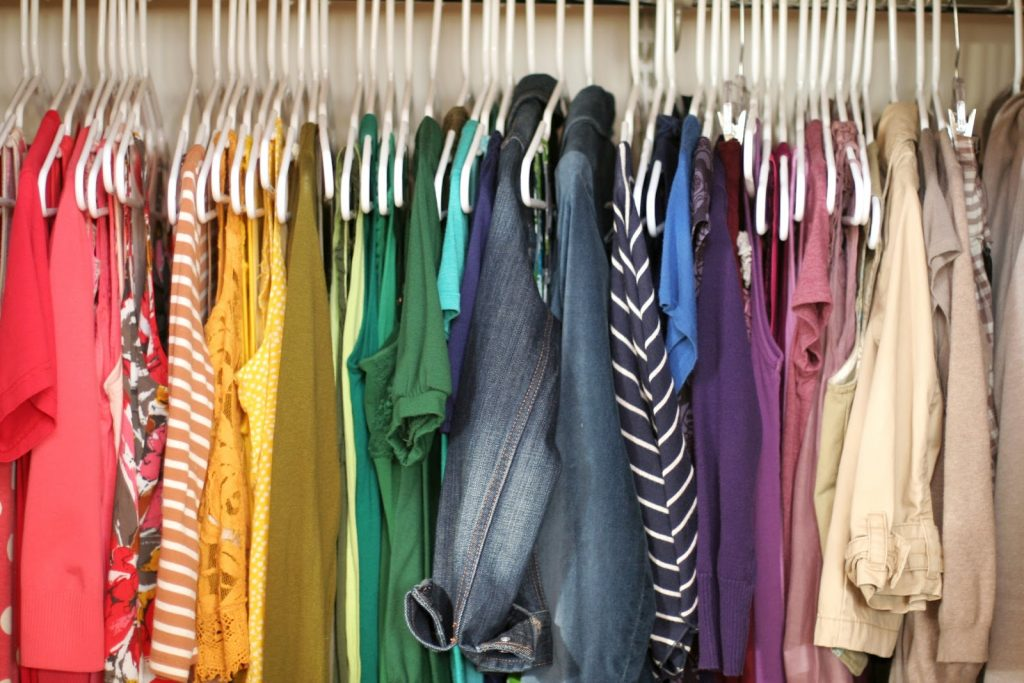 clutter-free closet by sorting