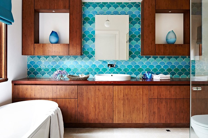 fish scales tiles for bathroom