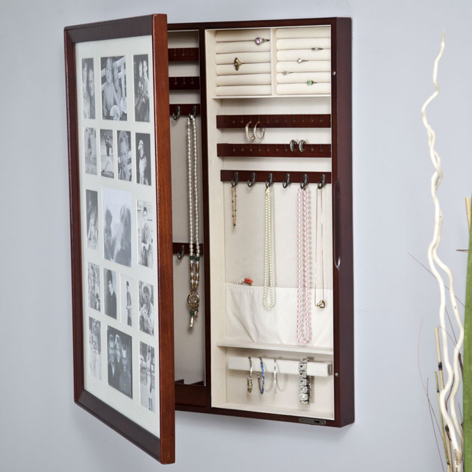 photo frame with hidden compartments