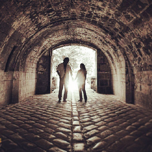 couple shot at Fort Santiago