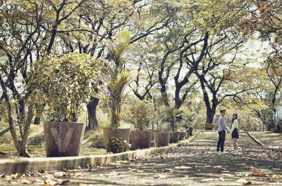 couple photo in UP Diliman