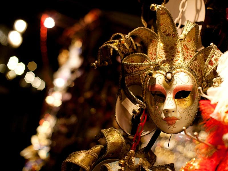 masquerade themed Christmas party